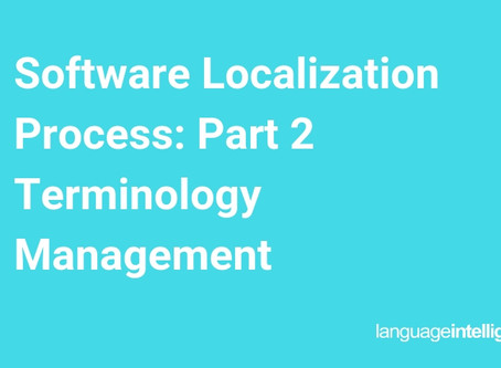 Software Localization Process: Part 2, Terminology Management