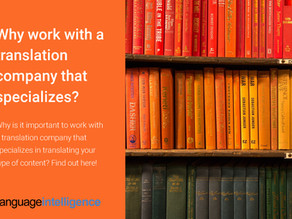 Why do Translation Companies Specialize?