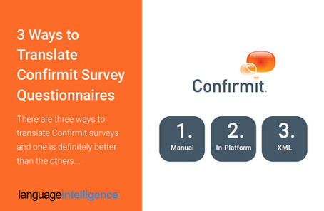 Confirmit Market Research Survey Translation: 3 Approaches
