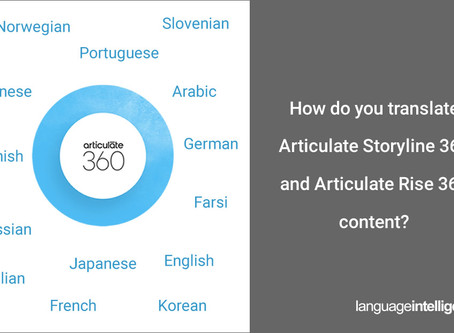 Translation of Articulate Storyline 360 and Articulate Rise 360 Content