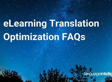 eLearning Translation Optimization FAQs