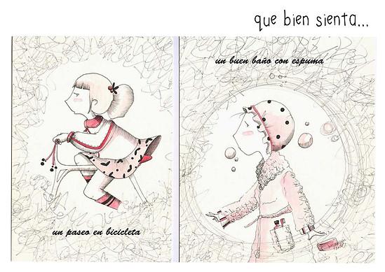 ilustración a mano de Irenes Sanjuán