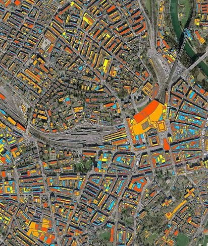 Solardachflächen in Bern