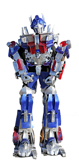 Blue and Red Robot