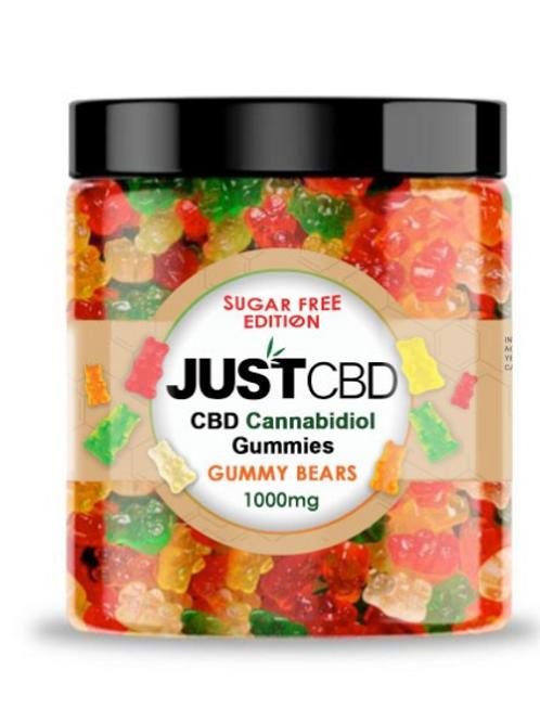 Just CBD Sugar Free Gummy Bears 1000mg