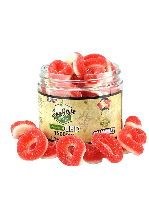 Sun State Strawberry Rings 1500mg