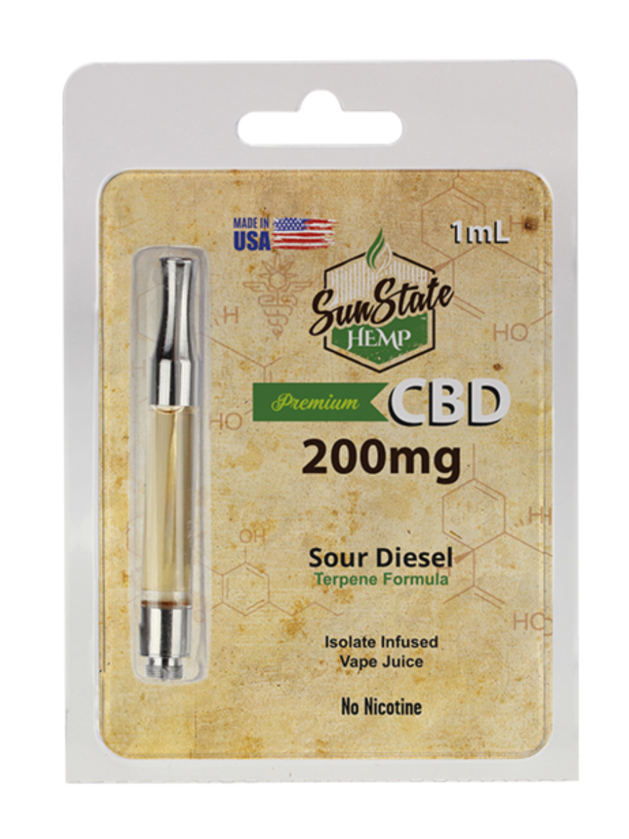 Sun State Pre-Filled Cartridge 1ml - Sour Diesel 200mg