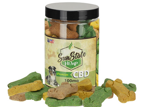Sun State Pet Treats- Bones 100mg