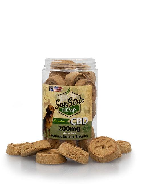 Sunstate Hemp Peanut Butter Biscuits Dog Treats 200mg
