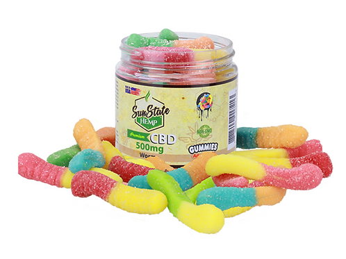 Sun State Gummy Worms 500mg