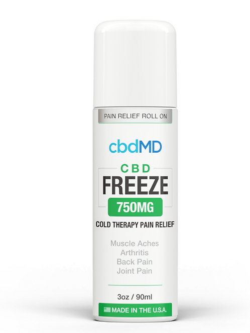 CBD MD Freeze Pain Relief 3oz Roller 750mg
