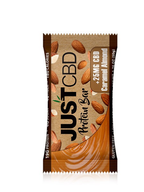 Just CBD Caramel Almond Protein Bar
