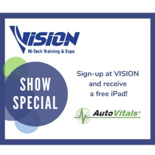 AutoVitals VISION Hi-Tech Training & Expo Show Special
