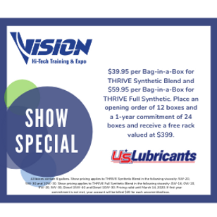 US Lubricants VISION Hi-Tech Training & Expo Show Special