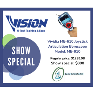 Oasis Scientific VISION Hi-Tech Training & Expo Show Special