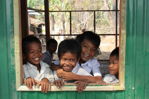 Students enjoying a new classroom
