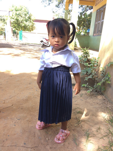 Prep student with brand new uniform