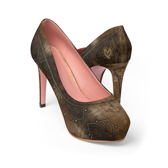 "Gothic Graffiti™ ""Dharma"" Women's Platform Heels"