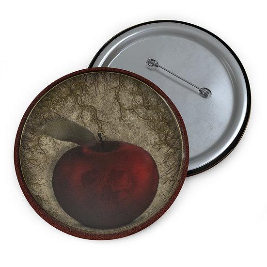 "Gothic Graffiti™ ""Death Apple"" Button Pin"