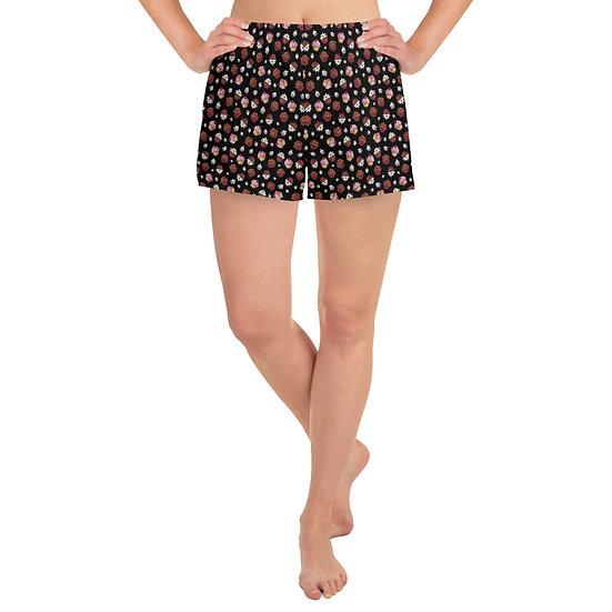 "Gothic Graffiti™ ""Cupcakes"" Women's Shorty-Shorts w/ Pockets"