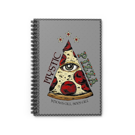 "Gothic Graffiti™ ""Mystic Pizza"" Ruled Line Journal"