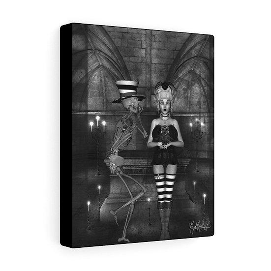 "Gothic Graffiti™ ""Duchess & Skelly Wedding"" on Canvas"