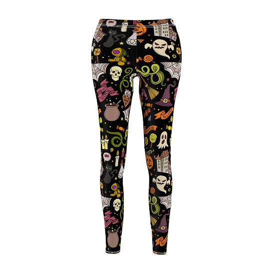 Gothic Graffiti™ Halloweeny (Black) Leggins