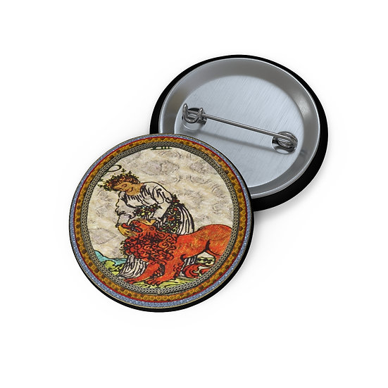 Tarot Card Button Pin-Strength