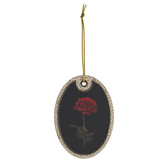 Gothic Graffiti™ Witches Garden Ceramic Ornament-Rose