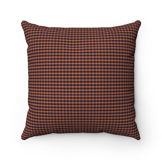 Gothic Graffiti™ Square Multi-colored Plaid Halloween Pillow