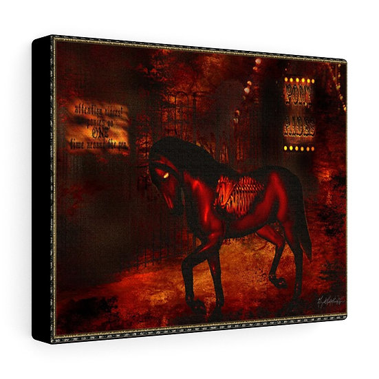 "Gothic Graffiti™ ""Carnivale du Macabre: Pony Rides"" on Canvas"