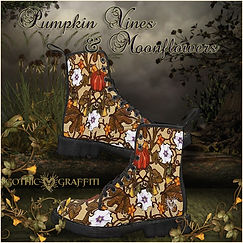 Pumpkin Vines & Moonflowers boots promo.