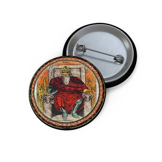 Tarot Card Button Pin-The Emperor