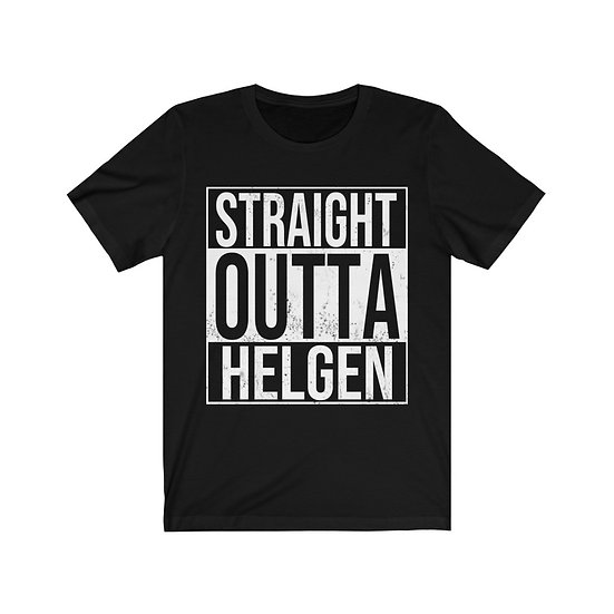 "Gothic Graffiti™ ""Straight Outta Helgen"" Unisex Jersey Short Sleeve Tee"