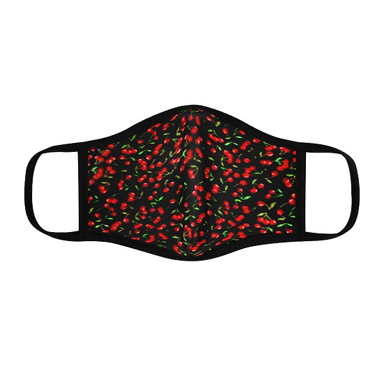 """Gothic Graffiti™ """"Cherries"""" Fitted Face Mask w/ filter pocket"""