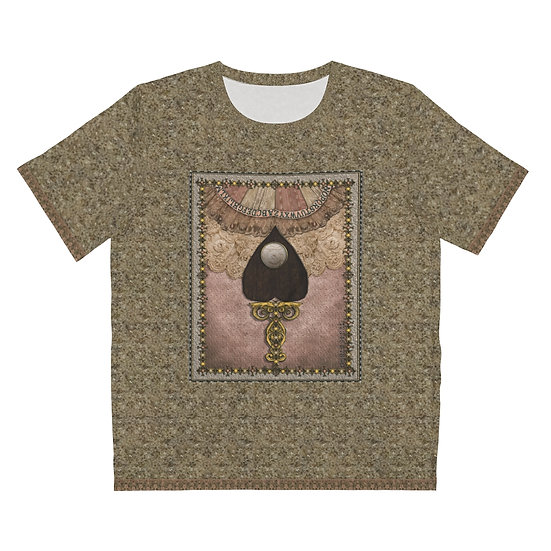 """Patchwork & Antique Lace Fortune Teller"" Unisex Art T-Shirt"