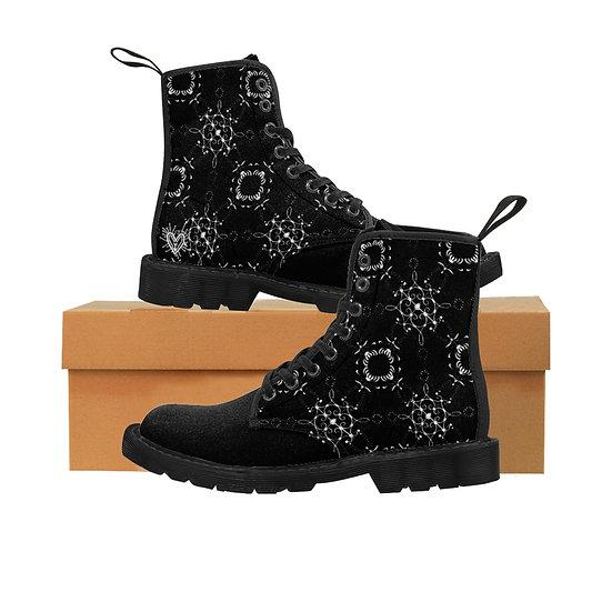 "Gothic Graffiti™ ""Epitaph"" Canvas Women's Boots"