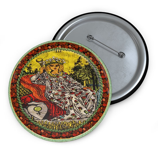 Tarot Card Button Pin-The Empress