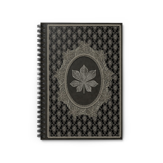 """Gothic Graffiti™ """"Vintage Chestnut Lace"""" Spiral Notebook - Ruled Line"""