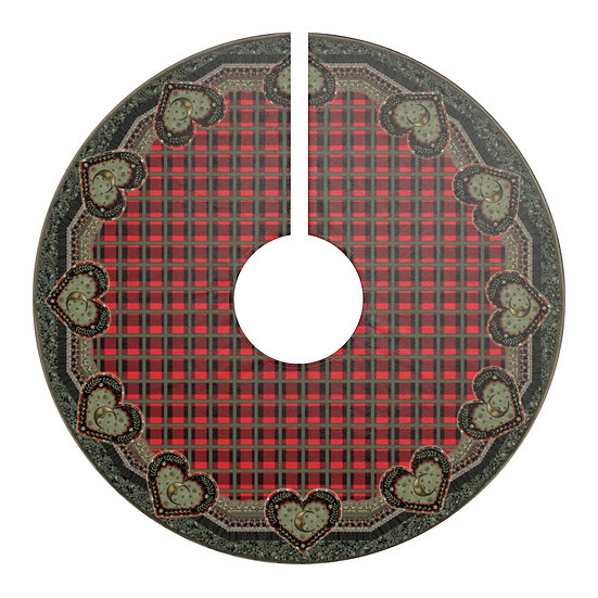 """Gothic Graffiti™ """"Luna Heart"""" Holiday Tree Skirt/Table Covering"""
