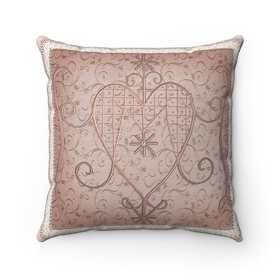 "Gothic Graffiti™ ""Marie Laveau Veve"" Spun Polyester Square Pillow"