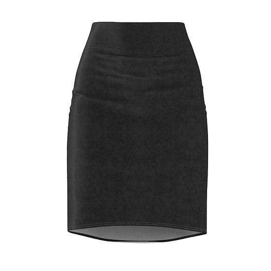 Gothic Graffiti™ Soft Black Pencil Skirt