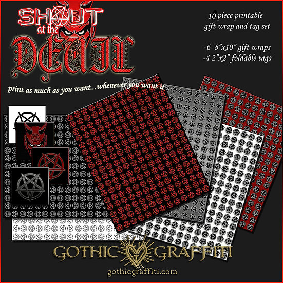Shout at the Devil 10 Piece Gift WrapSet