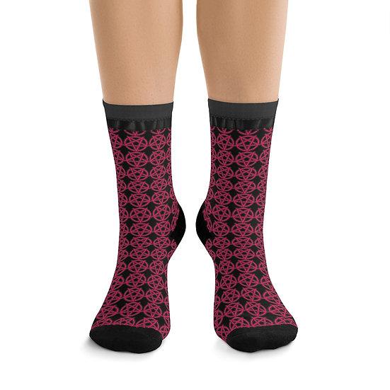 Gothic Graffiti™ Hot Pink Pentagram Socks