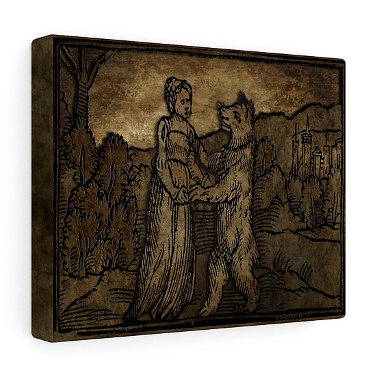"""""""Witch with Wolf"""" Canvas Gallery Wraps"""