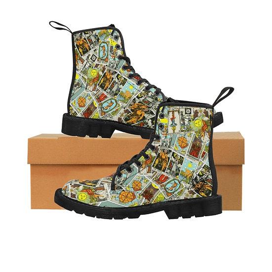 "Gothic Graffiti™ ""Major Arcana"" Women's Canvas Tarot Card Boots"
