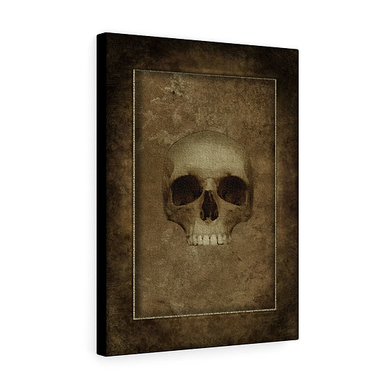 "Gothic Graffiti™ ""Aces & Eights: Wild Bill's Skull"" Stretched Canvas"