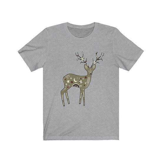 """Enchanted Fawn"" Unisex Jersey Short Sleeve Tee"