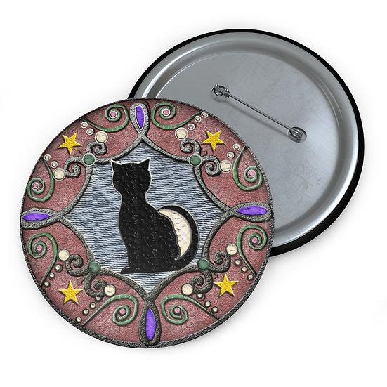 """Crescent Cat"" Hex Button"