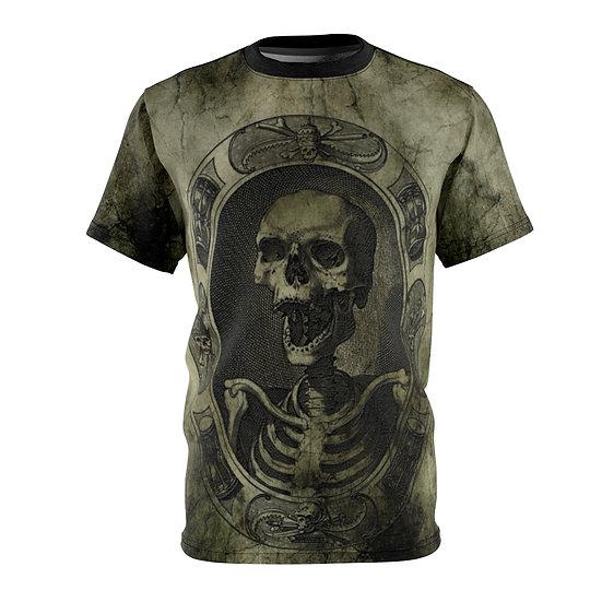 "Gothic Graffiti™ ""Canonical Skeleton"" Unisex Art Tee"